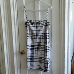 Shein Houndstooth Print Slip Pencil Dress size L.
